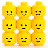 Happy. Lego men heads with happy emotions Stock Image
