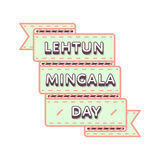 Happy Lehtun Mingala greeting emblem Stock Photo
