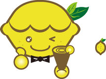 Happy lemon cartoon image Royalty Free Stock Images