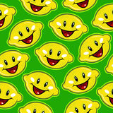 Happy Lemon Seamless Pattern Royalty Free Stock Photos