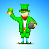 Happy leprechaun Stock Photo