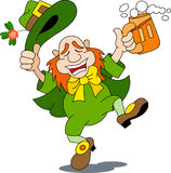 A happy  leprechaun Stock Photo