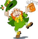 A happy leprechaun stock photo