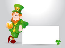Happy Leprechaun Banner Stock Photos