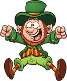 Happy leprechaun Stock Images