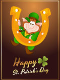 Happy Leprechaun Greeting Card Stock Images
