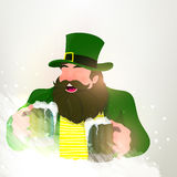 Happy Leprechaun for St. Patrick's Day celebration. Royalty Free Stock Image