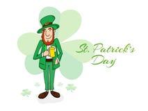Happy leprechaun for St. Patricks Day celebration. Royalty Free Stock Image
