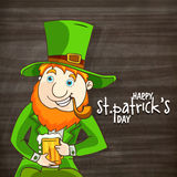Happy leprechaun for St. Patrick's Day celebration. Stock Images