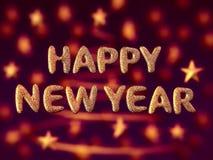 happy letters new shining year Στοκ Φωτογραφίες