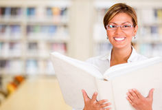 Happy librarian Stock Images