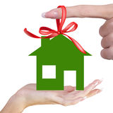 Happy Life. Gift Green Home Happy Life.Happiness Concept royalty free stock photos