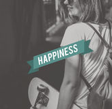 Happy Life Feel Good Happiness Live Concept Stock Photography