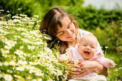 Happy life - mother with baby Royalty Free Stock Image