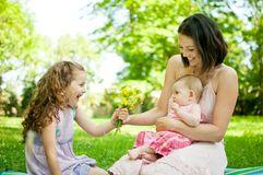 Happy life - mother with children Royalty Free Stock Photos