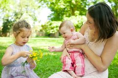 Happy life - mother with children Stock Photos