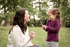 Happy life time - mother with child Royalty Free Stock Images