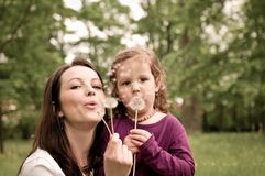 Happy life time - mother with child Stock Photo