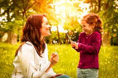 Happy life time - mother with child Royalty Free Stock Image