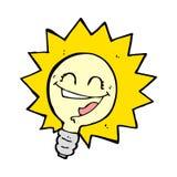 Happy light bulb cartoon Stock Photography