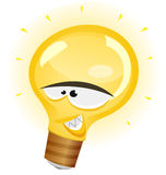 Happy Light Bulb Character Royalty Free Stock Images