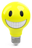 The happy light bulb Royalty Free Stock Images
