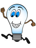 Happy lightbulb Royalty Free Stock Images