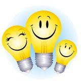 Happy Lightbulb Family Stock Image