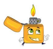 Happy lighter cartoon Stock Photography