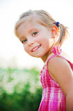 Happy liitle girl Stock Images