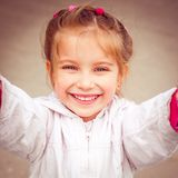 Happy liitle girl close-up Stock Photography