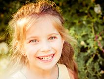 Happy liitle girl close-up Royalty Free Stock Photos