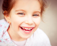 Happy liitle girl close-up Royalty Free Stock Image