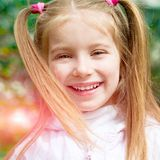 Happy liitle girl Royalty Free Stock Images
