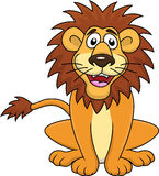 Happy lion cartoon Royalty Free Stock Images