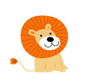 Happy lion cartoon Royalty Free Stock Image
