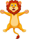 Happy lion cartoon jumping Royalty Free Stock Image