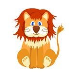Happy lion cartoon Stock Photo
