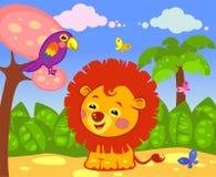 Happy lion Stock Photos