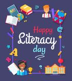 Happy Literacy Day Images Vector Illustration Stock Photos