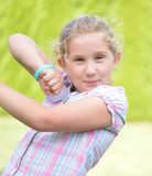 Happy litlle girl - outdoor. Royalty Free Stock Images