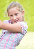 Happy litlle girl - outdoor. Stock Photography