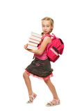 Happy litthe schoolgirl Stock Images
