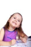 Happy little artist Royalty Free Stock Photo