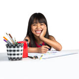 Happy little asian girl Royalty Free Stock Photography