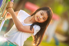 Happy little asian girl Royalty Free Stock Image