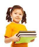 Clever kid with books Royalty Free Stock Photo