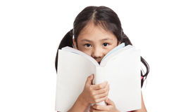 Happy little asian girl  read a book Royalty Free Stock Photo