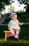 Happy little baby girl Stock Photos