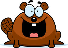 Happy Little Beaver. A cartoon illustration of a beaver looking happy Royalty Free Stock Photos